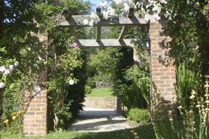 Sunny garden pergola